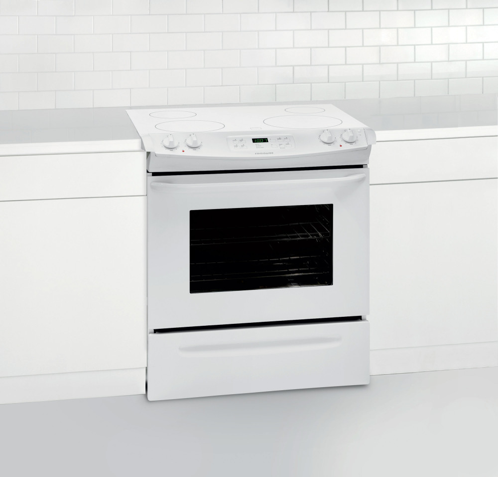 Frigidaire Ffes3025pw 30 Inch Slide In Smoothtop Electric