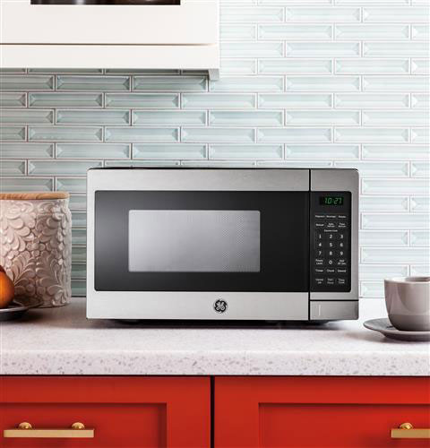 Ge Jes1072shss 0 7 Cu Ft Countertop Microwave Oven With