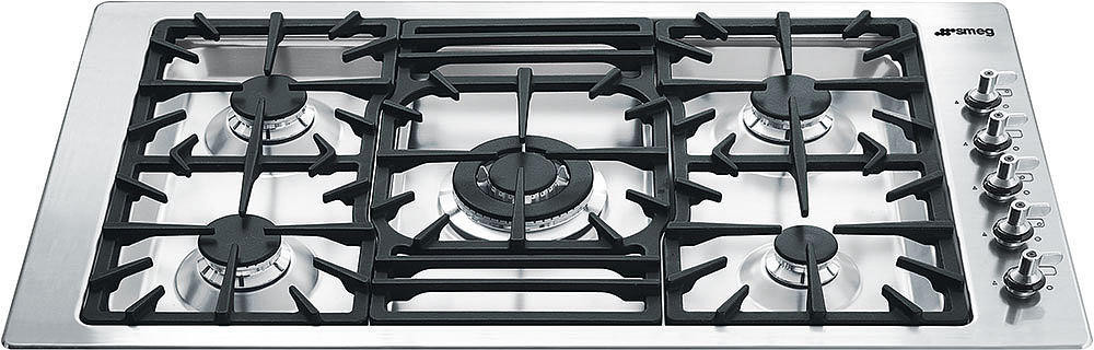 Smeg Pgfu36x 36 Inch Gas Cooktop With 5 Sealed Burners