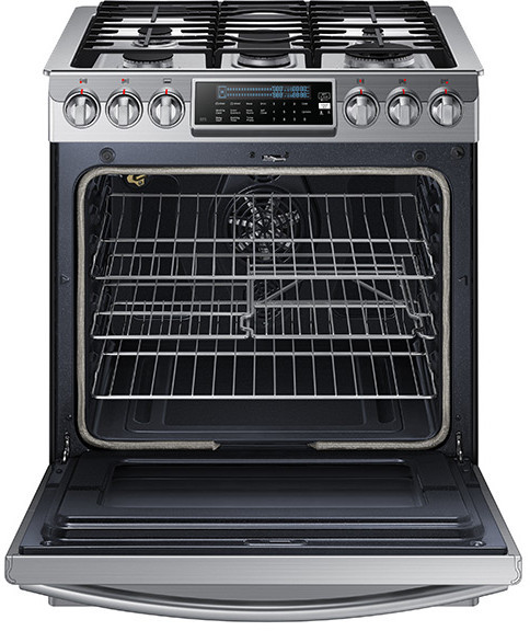 Samsung Nx58h9500ws 30 Inch Slide In Gas Range With 5