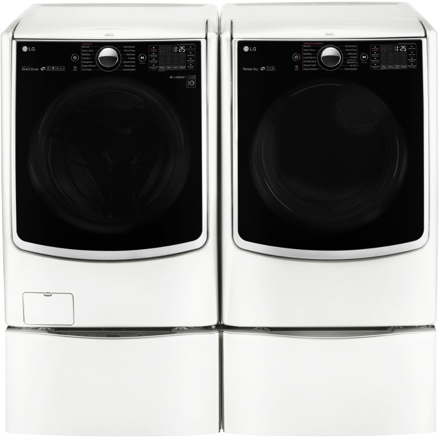 Lg Wm5000hwa 27 Inch 4 5 Cu Ft Front Load Washer With 14