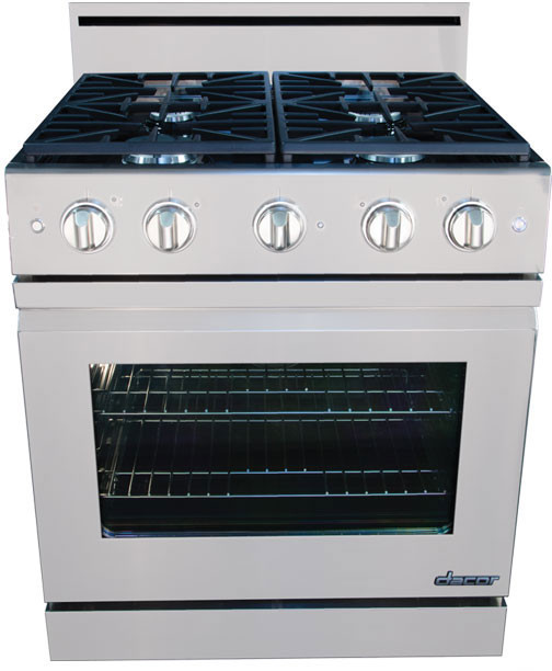 Dacor Countertop Stove : Dacor DR30GFSLPH 30 Inch Freestanding Gas Range with 4.8 cu. ft ...