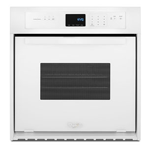 black stainless steel wall ovens white