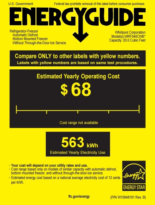 EnergyGuide Label