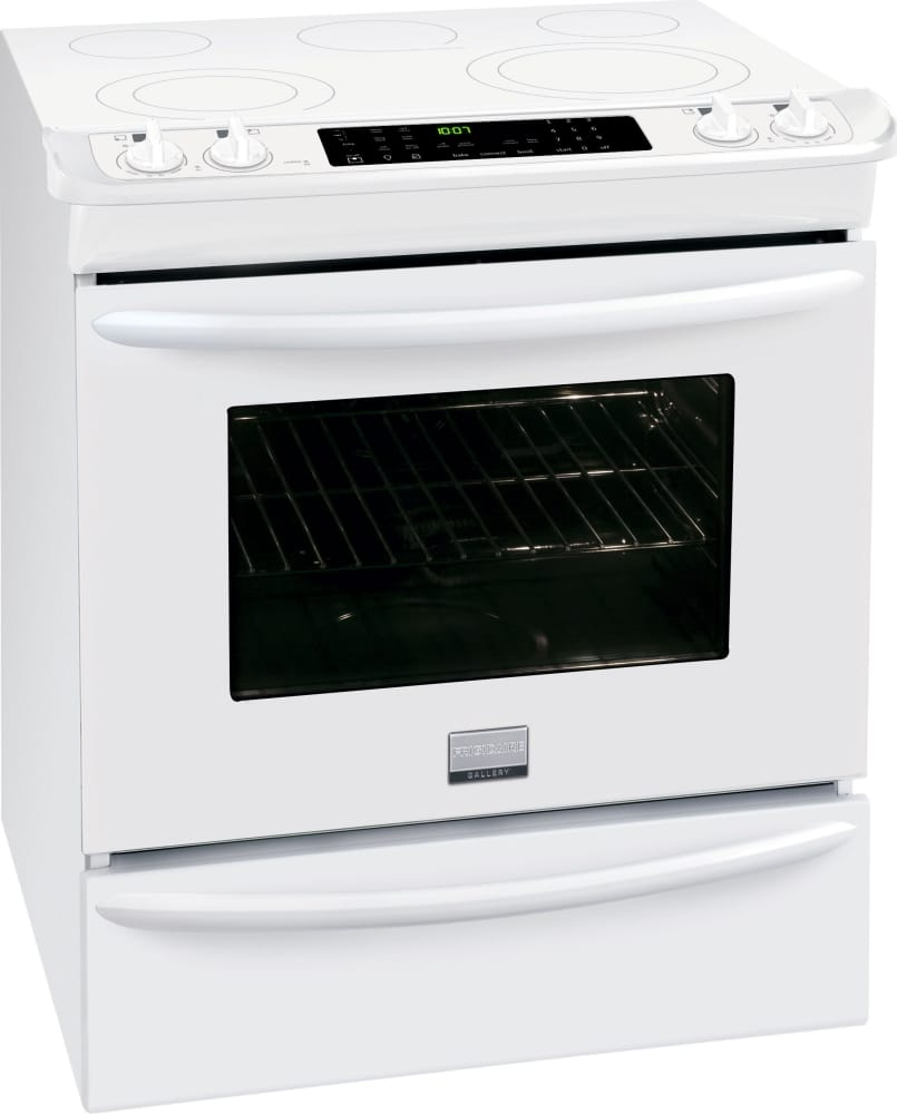 Frigidaire Fges3065pw 30 Inch Slide In Electric Range With