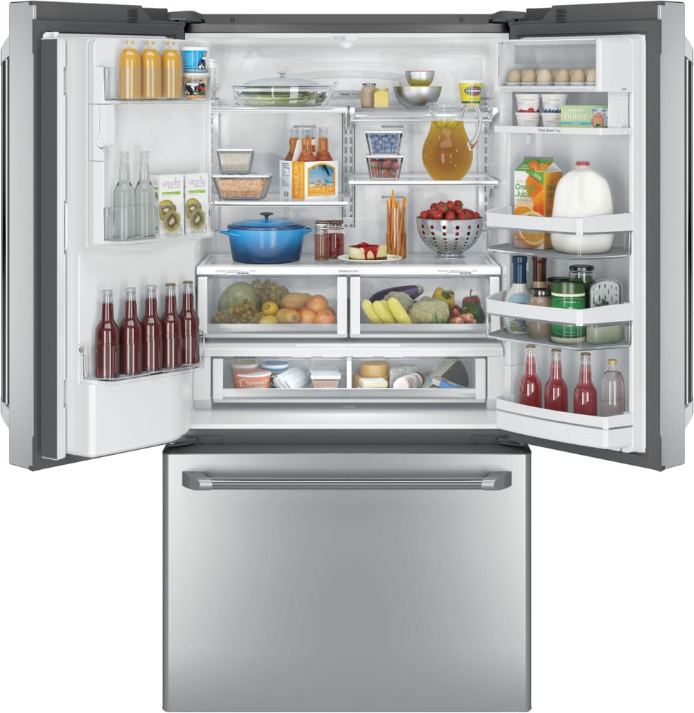 GE CYE22TSHSS 36 Inch Counter Depth French Door Refrigerator with