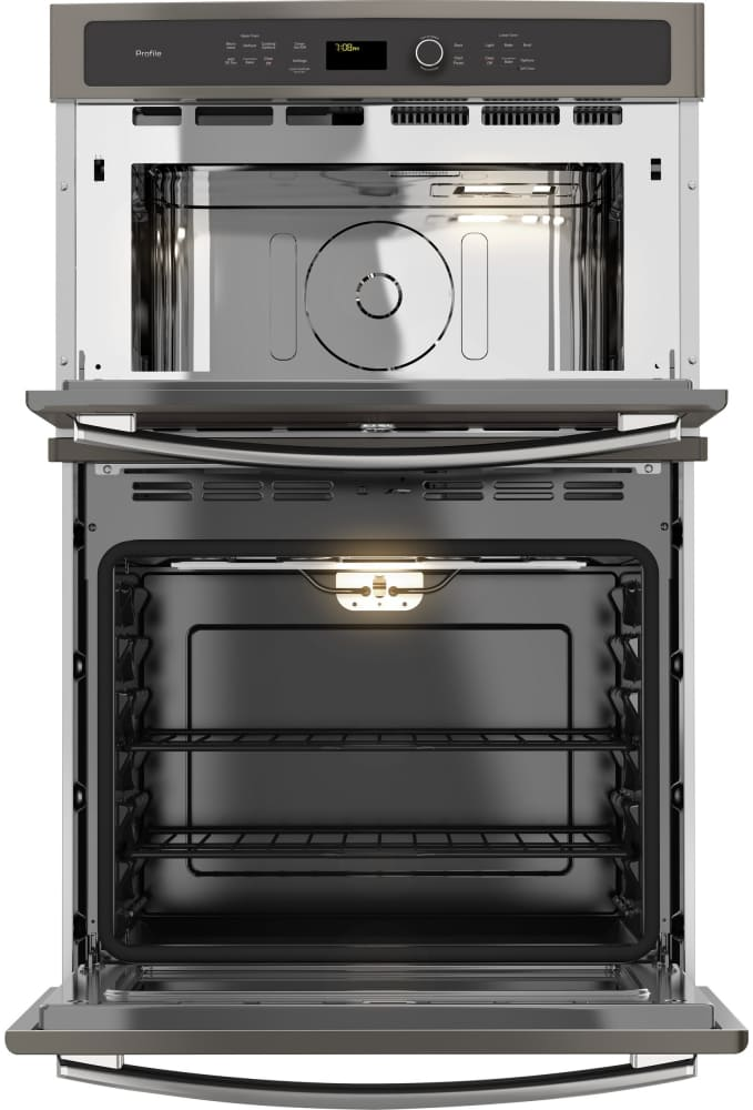 GE PK7800EKES 27 Inch Combination Electric Wall Oven with 6 Total cu