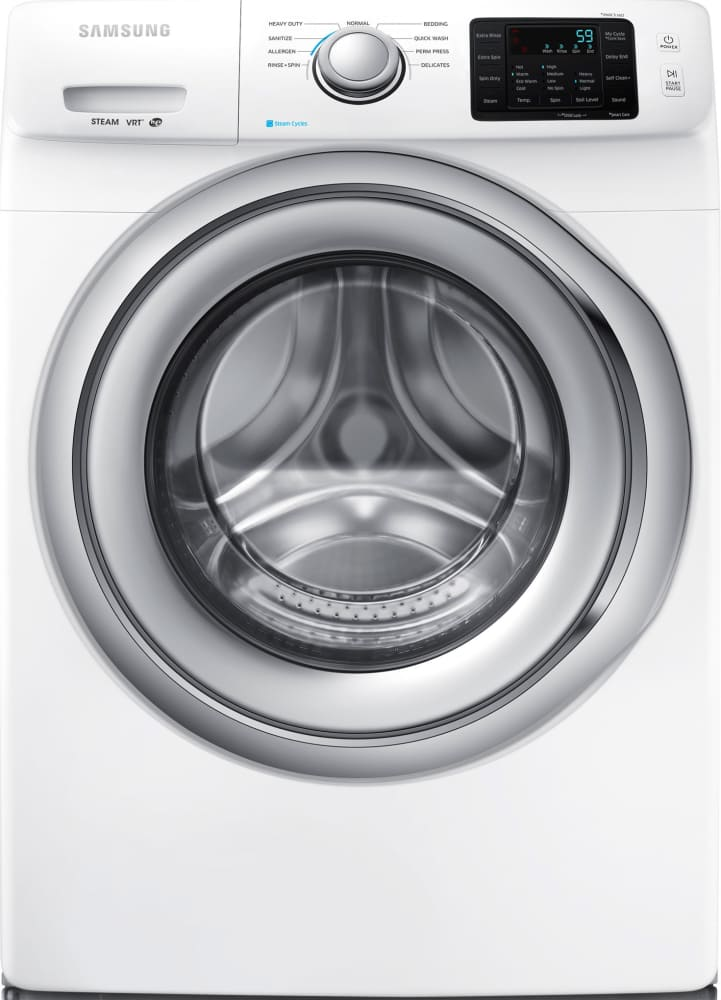 Samsung WF42H5200AW 27 Inch 42 cu ft Front Load Washer with Steam