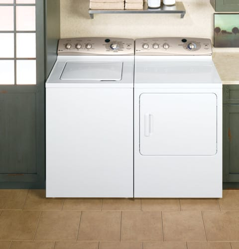 GE WPRE8100GWT 27 Inch TopLoad Washer with 35 cu ft Capacity