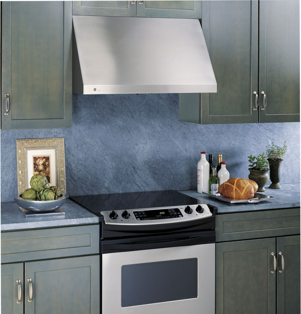 Ge Jv936dss 30 Inch Wall Mount Range Hood With 600 Cfm