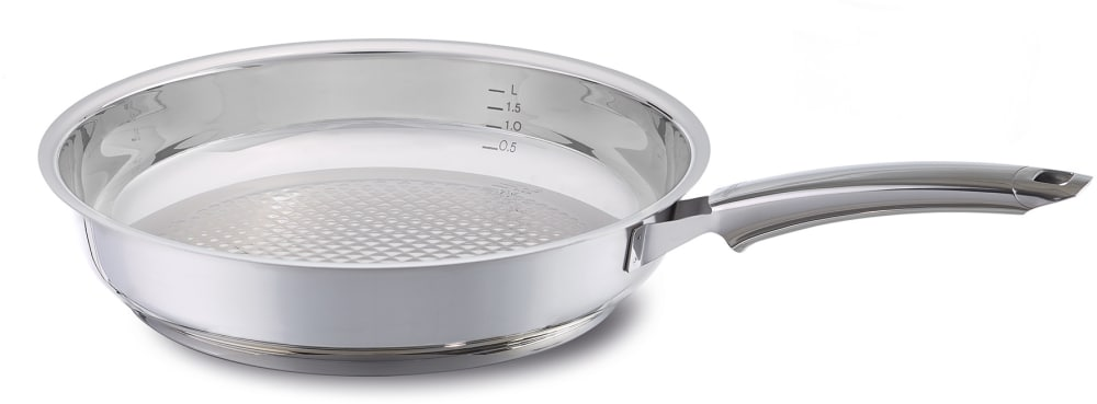 fissler 12140028100 11 inch crispy steelux premium fry pan with cookstar stove base novogrill. Black Bedroom Furniture Sets. Home Design Ideas