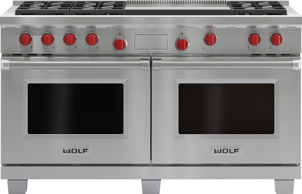 Wolf Df606dg 60 Inch Pro Style Dual Fuel Range With 6 Dual