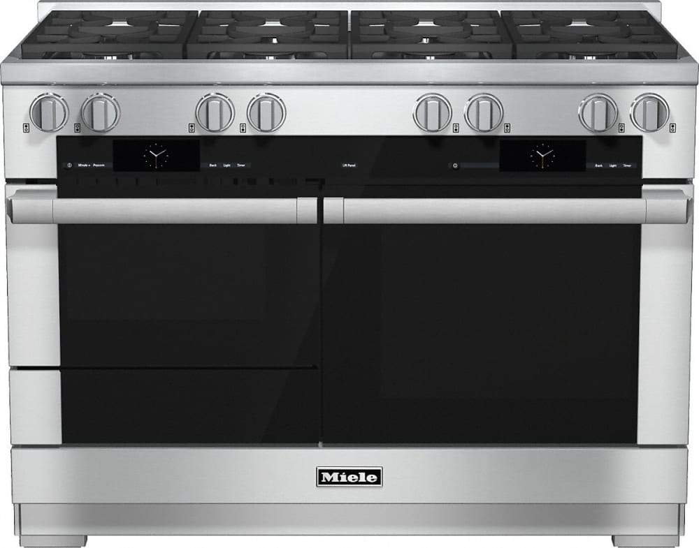 miele hr1954df 48 inch pro style dual fuel range with 8 m pro dual stacked sealed burners. Black Bedroom Furniture Sets. Home Design Ideas