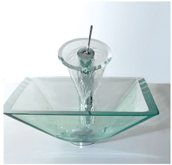 Kraus Cgvs90119mm10ch 17 Inch Aquamarine Glass Vessel Sink