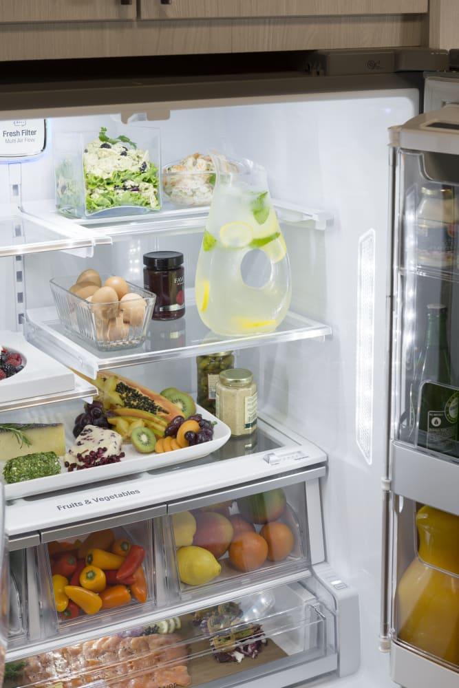 Best Counter Depth Refrigerator 2015 >> LG LSFXC2476S 36 Inch Counter Depth French Door Refrigerator with Door-in-Door®, Slim SpacePlus ...