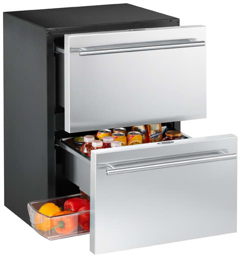 U Line 2275dwrc 24 Inch Built In Double Drawer