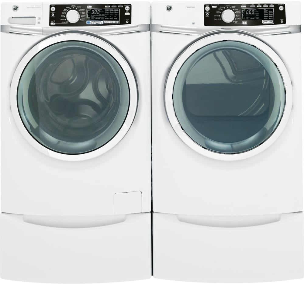 ge gfds260efww 28 inch 8 1 cu ft electric dryer with 12. Black Bedroom Furniture Sets. Home Design Ideas