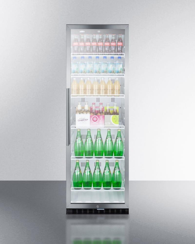 Summit SCR1400W 14.5 cu. ft. Beverage Merchandiser with Adjustable ...