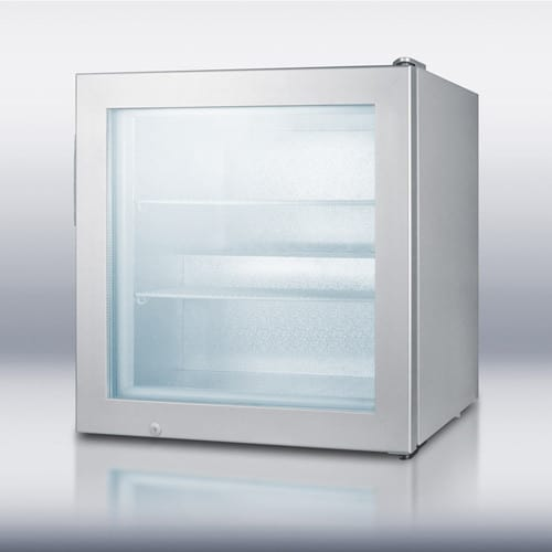 Summit Scfu386 24 Inch Countertop Display Freezer With 30 Cu Ft