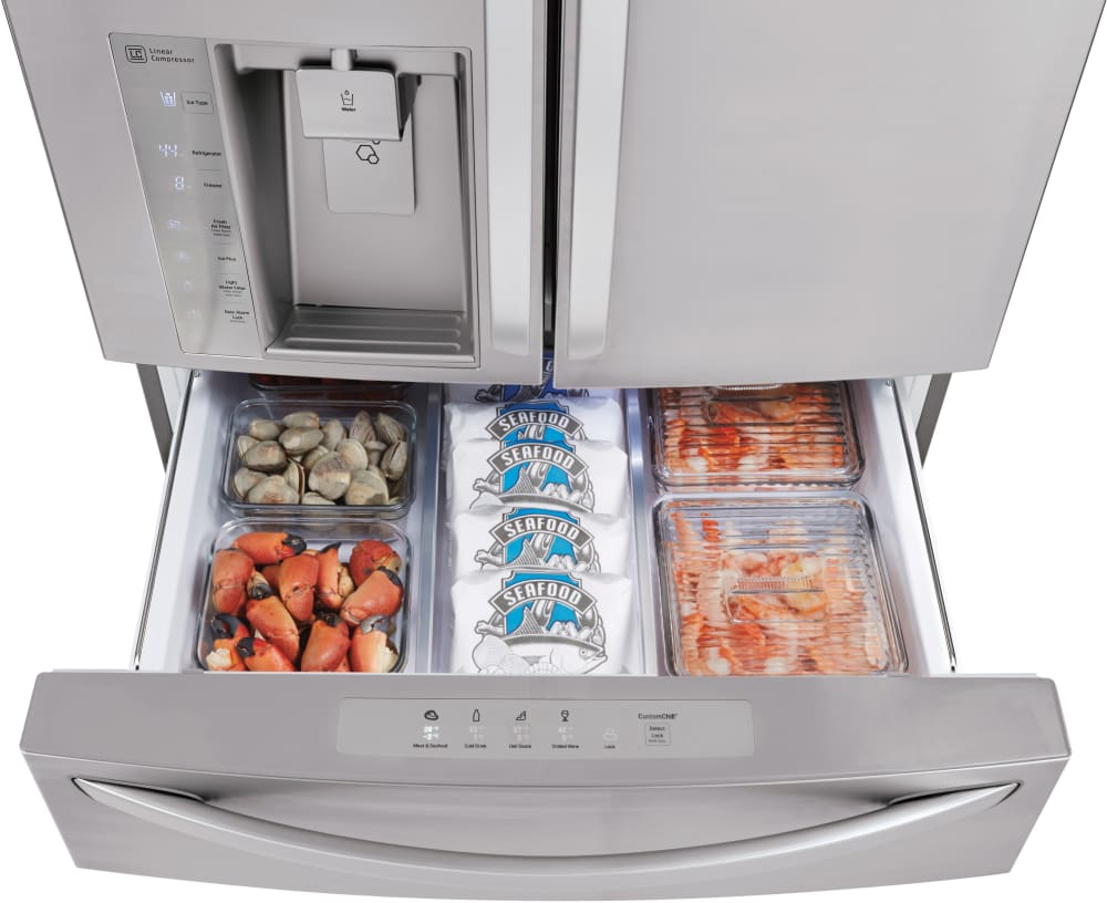 Lg Lmxs30776s 36 Inch French Door Refrigerator With 29 7