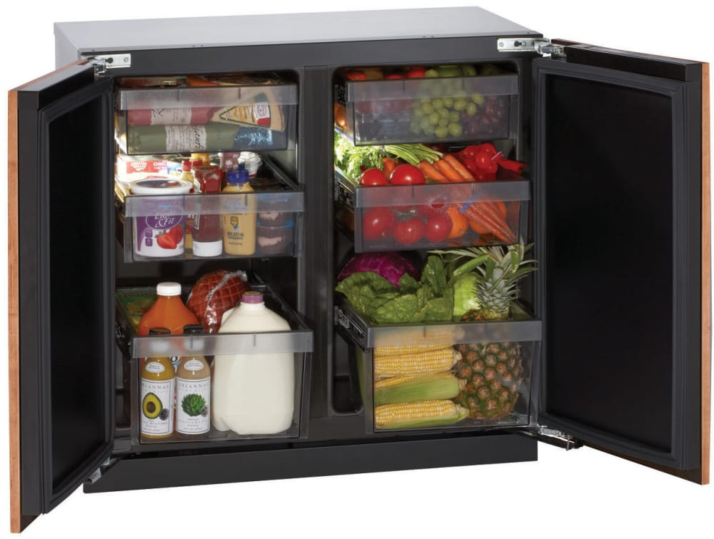 u line 3036rr 36 inch undercounter all refrigerator with 6. Black Bedroom Furniture Sets. Home Design Ideas