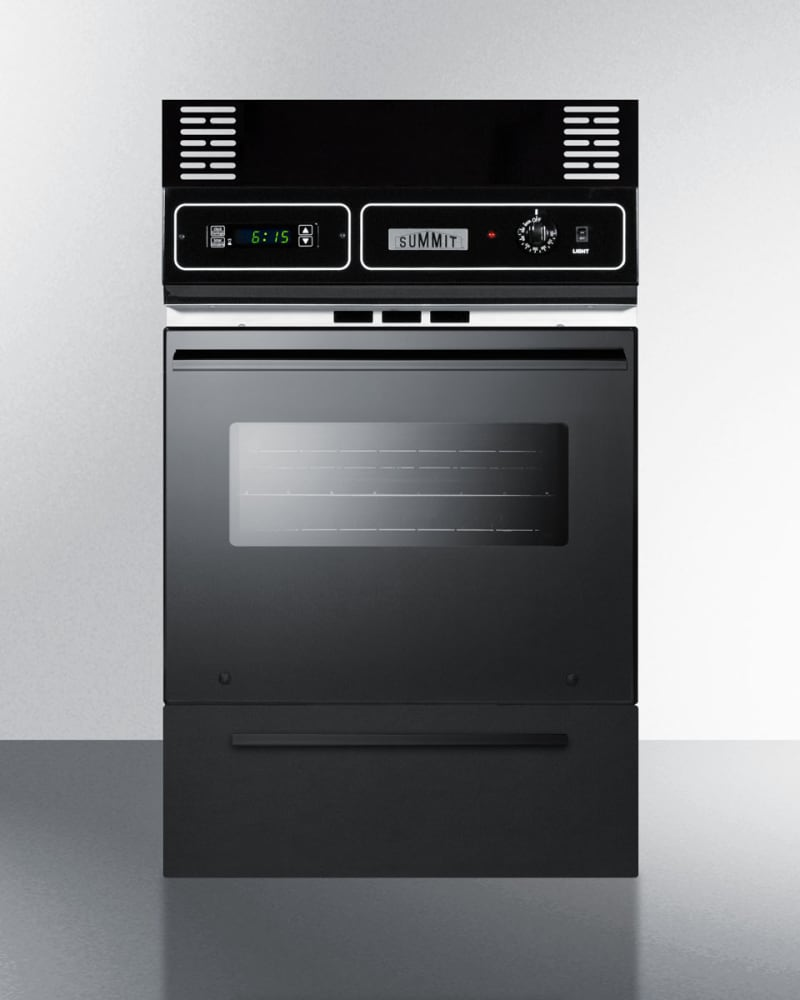 Summit Ttm7212kw 24 Inch Single Gas Wall Oven With