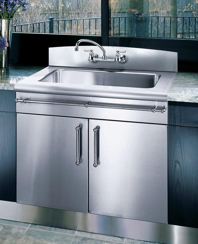 Kitchen No Backsplash: Elkay 3626EGSBNB2 36 Inch Flushmount Single Bowl Stainless