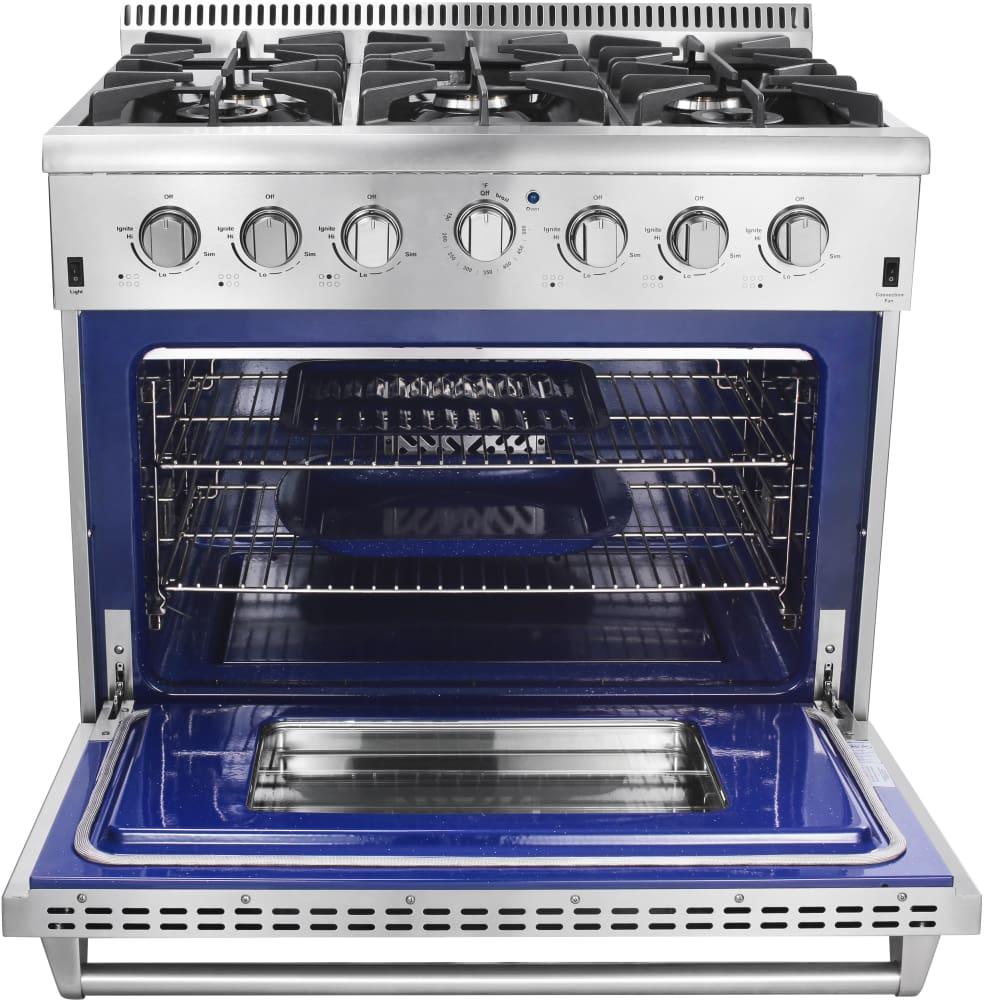 Thor Kitchen Hrg3618u 36 Inch Freestanding Gas Range With