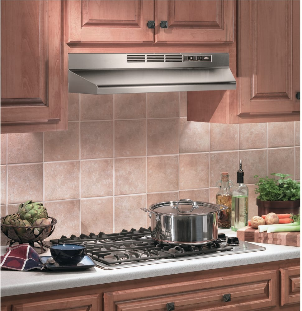 36-Inch White Broan 413601 ADA Capable Non-Ducted Under-Cabinet Range Hood
