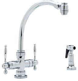 Blanco 440627 Double Lever Cast Spout Kitchen Faucet With