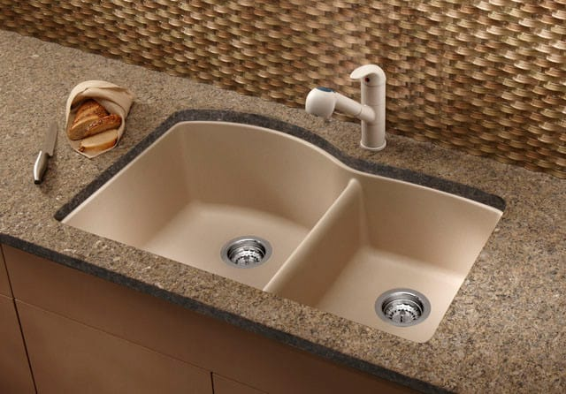 Blanco 440177 32 Inch Undermount Double Bowl Granite Sink