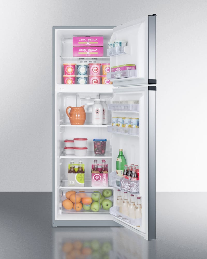 Summit FF948SS 22 Inch Top-Freezer Refrigerator with 8.8 cu. ft ...