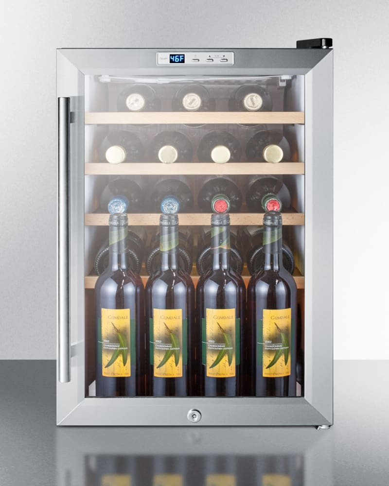 Integrated Wine Cabinet Summit Scr312lbixwc2 18 Inch Built In Wine Cellar With 22 Bottle