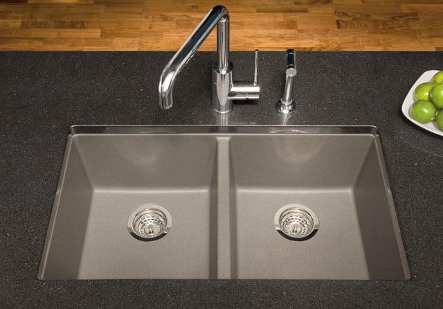 Blanco 516322 30 Inch Undermount Double Bowl Granite Sink