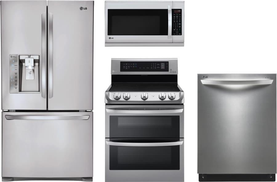 LG LGRERADWMW251 LG 4 Piece Kitchen Appliances Package