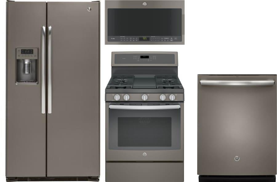 Ge Gereradwmw603 4 Piece Kitchen Appliances Package With