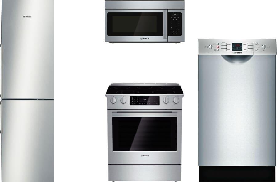 Bosch Boreradwmw3 4 Piece Kitchen Appliances Package With