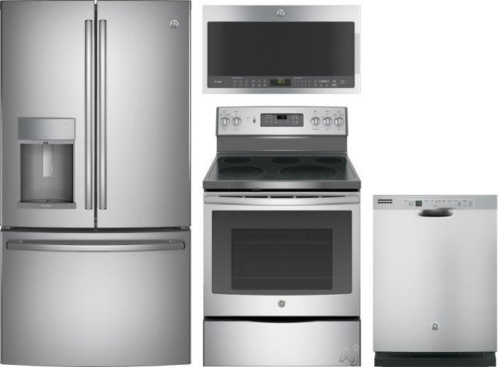 Ge Gereradwmw1409 4 Piece Kitchen Appliances Package With