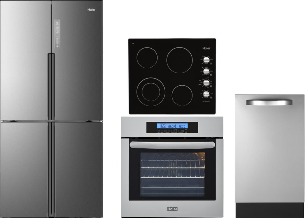 Haier Harectwodw7 4 Piece Kitchen Appliances Package With