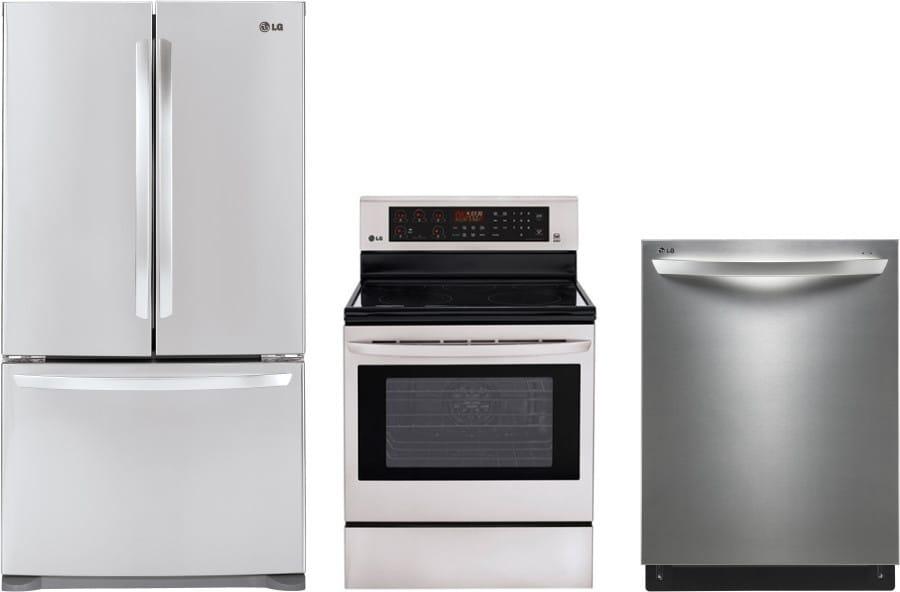 Lg lgreradw7 3 piece kitchen appliances package with - 3 piece kitchen appliance package ...