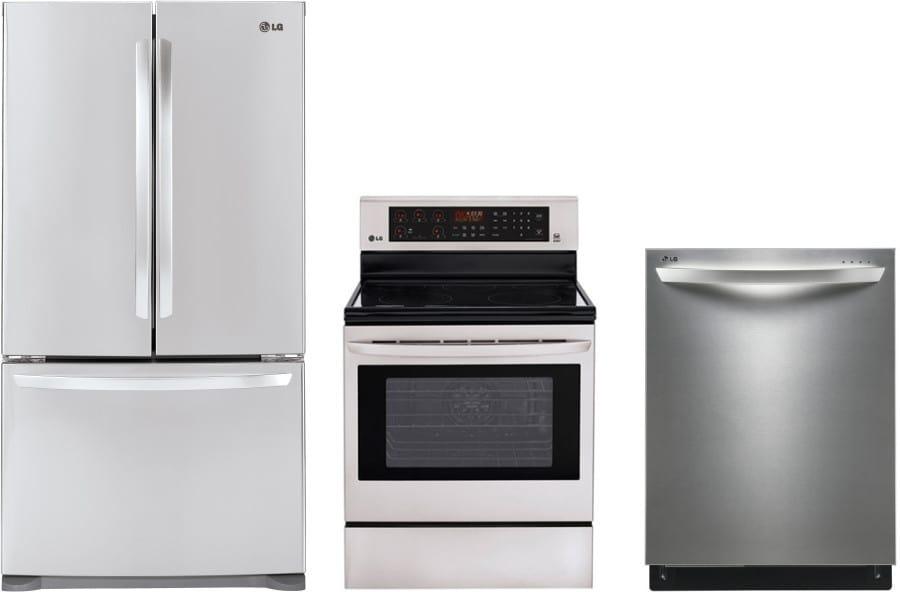 Lg lgreradw12 3 piece kitchen appliances package with - 3 piece kitchen appliance package ...