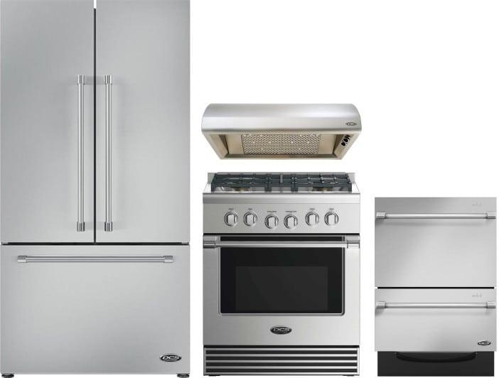 Dcs Dcsreradwrh2 4 Piece Kitchen Appliances Package With