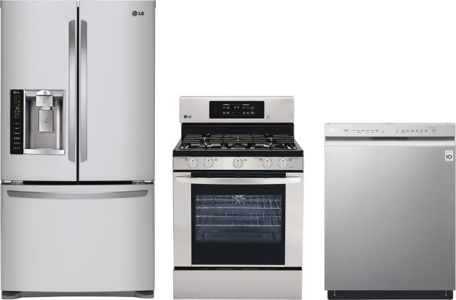 Lg lgreradw20 3 piece kitchen appliances package with - 3 piece kitchen appliance package ...