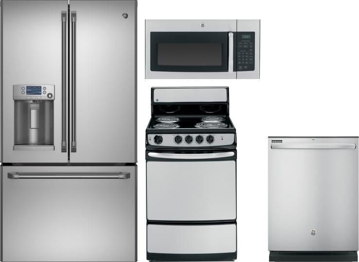 Ge Gereradwmw2689 4 Piece Kitchen Appliances Package With