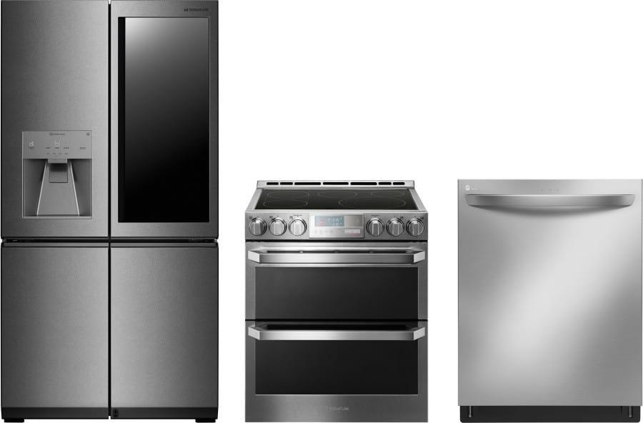Lg lgreradw28 3 piece kitchen appliances package with - 3 piece kitchen appliance package ...