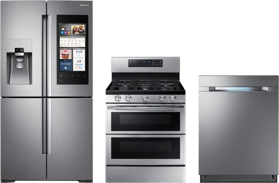 Samsung sareradw3 3 piece kitchen appliances package with - 3 piece kitchen appliance package ...