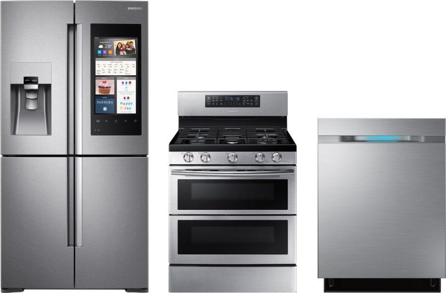 Samsung sareradw4 3 piece kitchen appliances package with - 3 piece kitchen appliance package ...