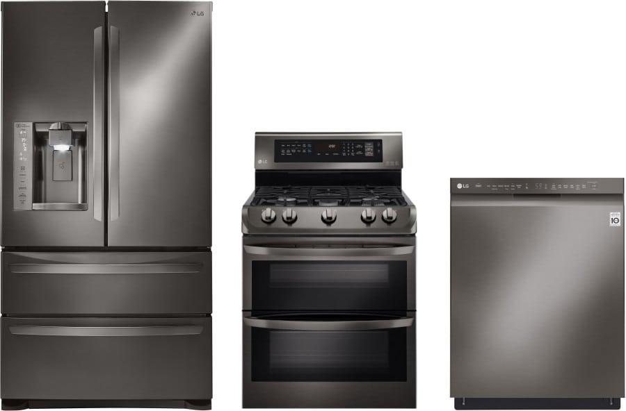 Lg lgreradw50 3 piece kitchen appliances package with - 3 piece kitchen appliance package ...