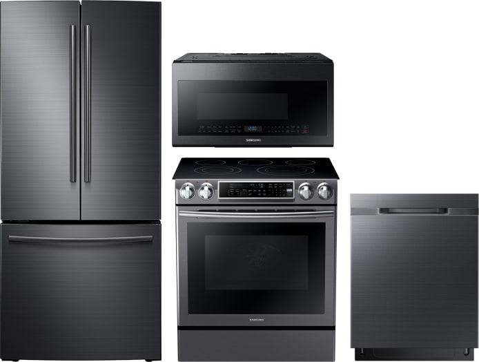Samsung Sareradwmw1025 4 Piece Kitchen Appliances Package