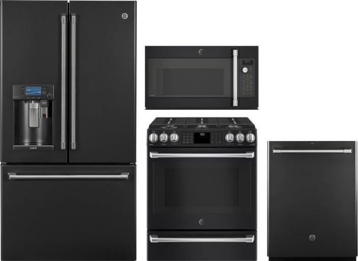 Cafe Gereradwmw7773 4 Piece Kitchen Appliances Package